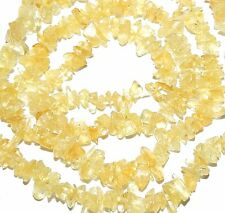 NG1330f Yellow Citrine 2-4mm Gemstone Nugget Mini-Chip Beads 18""