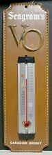 1960's Seagram's VO Canadian Whisky Thermometer - Leather Like Backing