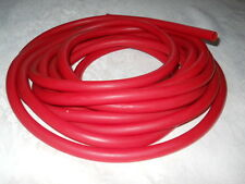 "sold BY-THE-FOOT Red Rubber LATEX tubing 1/2""OD x 1/4""ID x 1/8"" wall."