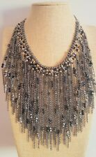 Beaded Beads Tassel Fringe Bohemian Boho Zara Style Necklace Xmas Gift Idea