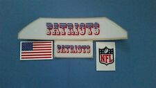 New England Patriots throwback bumpers football helmet decal set