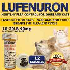 "Flea Control for Dogs 10-20lbs ""12"" 90mg Flea Control Capsules"