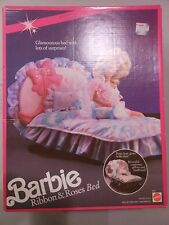 Barbie Ribbin and Roses Bed Furniture Collection # 5620 for Barbie Houses NEW