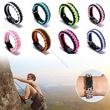 Survival Outdoor Bracelet Tactical Paracord Parachute Cord Bush Wristband Rope