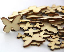 50pcs Wooden MIXED BUTTERFLY Cardmaking Scrapbooking Craft Embellishment Wedding