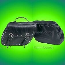 HARLEY SOFTAIL SPORTSTER MOTORCYCLE LEATHER SADDLE BAGS