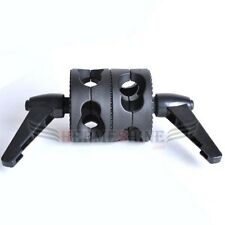 New Dual Grip Head Angle Clamp for Photography Studio Boom Reflector Arm Stand