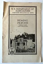 Homing Pigeons Their Care and Training by Alfred R. Lee 1924 Booklet Racing Rare
