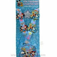 Disney Pin Flexible Characters with Lanyard and 4 Pins Starter Set 2007