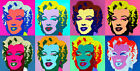 Marilyn Heads A1 by Andy Warhol High Quality Canvas Print