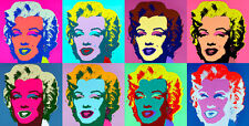 Marilyn Heads 200cm x 101cm by Andy Warhol Huge High Quality Canvas Print
