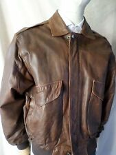 NEW ZEALAND OUTBACK Cooper brown leather A-1 flight retro jacket MEDIUM