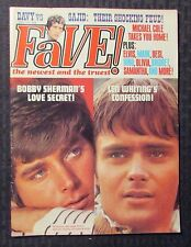 1969 Oct FAVE Teen Magazine VG+ 4.5 Monkees - Davy Jones - Elvis Presley