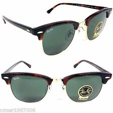 NEW Ray Ban Sunglasses RB CLUBMASTER 3016 W0366 Havana tortoise Frame GREEN