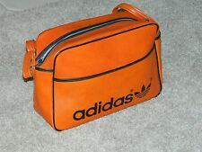 RARE Vintage Adidas Gym Bag faux Orange Leather AMAZING!