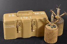 WW2 WWII GERMAN  BOX CASE CONTAINER 3 S.Mi.35 MINE WAFFENAMT MARK BOUNCING BETTY