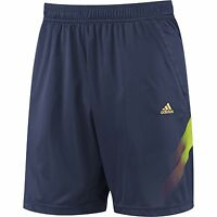 New Mens Adidas Climalite Samba Training Shorts - Navy Blue Football Gym Sports