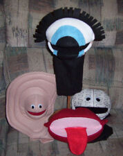 Body Parts Puppets Set of 4: Ear, Eye, Brain, Mouth-Ministry, Health, Anti-Drug
