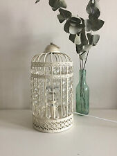 Vintage Laura Ashley Birdcage Lamp Cream Bedside Light Crystal Diamante Glass