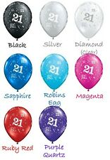 "21st Birthday Party Supplies ""21"" printed around 28cm Latex Balloons 2 for $1.50"