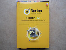 Genuine Norton 360 2013 3 PCs 1 Year Free Latest 2017 Upgrade Retail Box