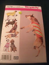 DOG PET CLOTHES SEWING PATTERN LARGE DOGS 30 TO 46 LBS COATS SHIRTS UNCUT