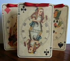 Alice in Wonderland clock 8 Large Card tent cards party favor table decoration