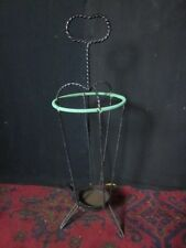 Vintage 50's / 60's Hall Umbrella Stand in Twisted Wrought Iron. Superb Retro!