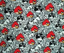 Fleece Wall Hanging Blanket Panel Throw Wall-hanging Angry Birds Red Black White