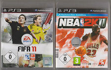 FIFA 11 2011 FOOTBALL + NBA 2k11 playstation 3 ps3 collection