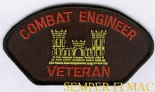 Combat Engineer Veteran Hat Patch US ARMY GIFT PIN UP SAPPER FORT CASTLE FORT