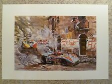 1970 Porsche 908/3 Spyder Walter Gotschke Showroom Advertising Poster RARE! L@@K