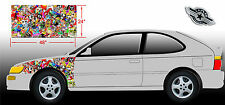 "1 LARGE STICKER BOMB SHEET JDM HONDA DECAL 24"" x 48"" EACH 3M GLOSS WRAP VINYL."