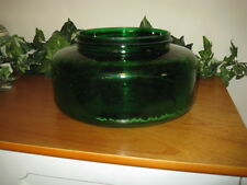 GREEN GLASS BOWL/FLOWER POT - FOREST GREEN