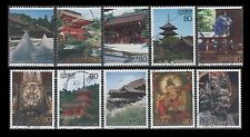 "Japan 2761a-j USED Singles from World Heritage Site sheet 3 ""Kyoto"""