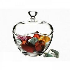 Pasabahce Glass Round sweet jar with lid sugar bowl Dish Clear Candy Bowl Box