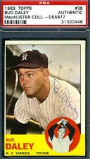 BUD DALEY #38 PSA/DNA AUTHENTICATED SIGNED 1963 TOPPS AUTOGRAPH
