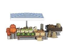 Busch 1070 Markstand Gemüse viel Zubehör H0 Bausatz HO Neu