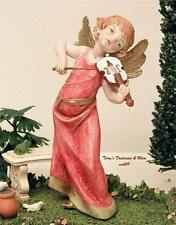 "FONTANINI DEPOSE ITALY 6"" MUSICAL NATIVITY CERAMIC TONE ANGEL/CHERUB VIOLIN NEW"