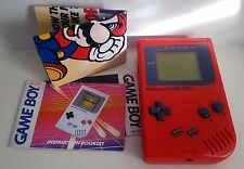Original Nintendo Game Boy Play It Loud Handheld Video Game System (RED) Bonus