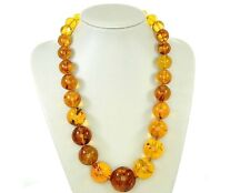 Rare German Museum Verified Genuine Amber Beads with Insects- A0375 RRP£12500!!