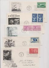 US FDC 1957 Year Set 15 First Day Covers All Cacheted With Addresses |