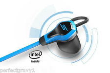 SMS AUDIO- BioSport In-Ear Wired Ear Bud With Heart Monitor- Blue, NEW