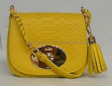 NWD Coach F35403 LIV Python Embossed Crossbody/Shoulder Bag in Yellow