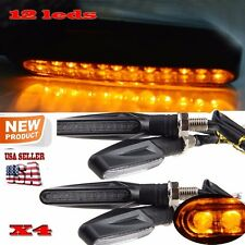 4X black universal Motorcycle LED Turn Signal Light Indicator Blinker Lamp Amber