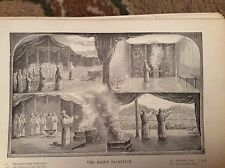 u1-3 ephemera 1890 religious book plate the daily sacrifice