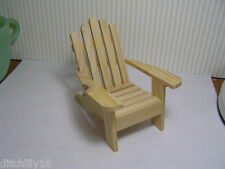 Miniature Dollhouse Unfinished Adirondack Chair