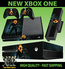 XBOX ONE CONSOLE STICKER GHOST RIDER JOHNNY BLAZE SKULL DECAL SKIN & 2 PAD SKINS