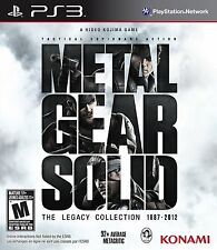 METAL GEAR SOLID THE LEGACY COLLECTION TEXTOS EN CASTELLANO NUEVO PRECINTADO PS3
