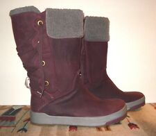 KEEN Waterproof Burgundy Leather Rear Lace-Up Mid Calf Winter Boot Sz. 11 MINTY!
